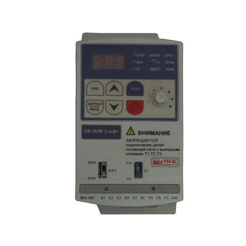 Преобразователь частотный Е3-8100К-ОР5Н 0,4кВт 380В на ПКА-20 ПП