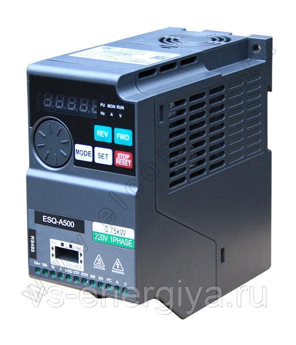 Частотный преобразователь ESQ-A500-021-0.75K 0.75кВт 200-240В для ПКА 20 ПРОШИТЫЙ